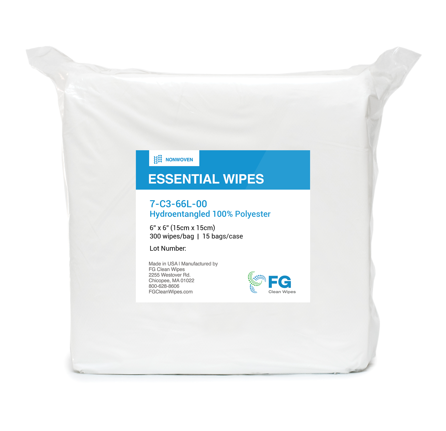 Hydroentangled 100% Polyester Wipes